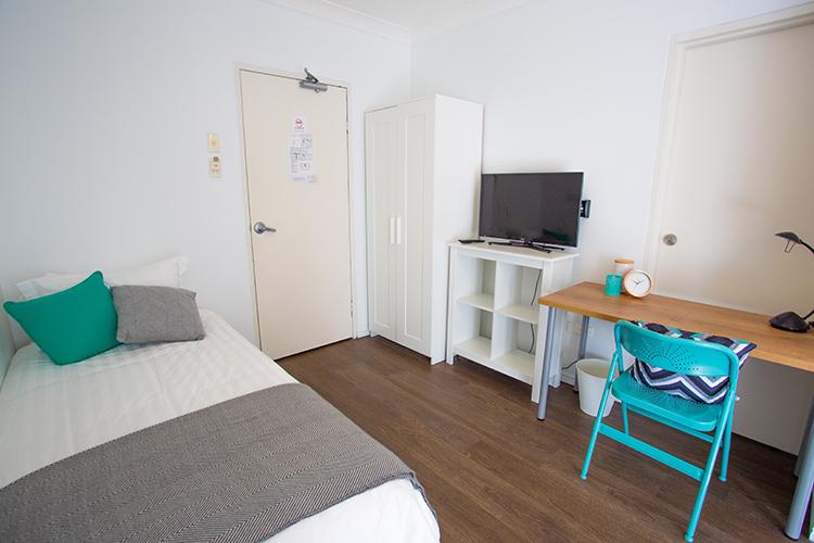 Brisbane Student Apartments Desketing---Hamilton-Student-Accom--Entry-Room2